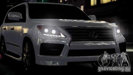 Lexus Lx 570 2014 sport для GTA 4 вид сзади
