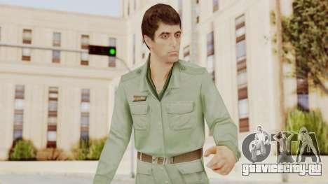 Scarface Tony Montana Army Costume для GTA San Andreas