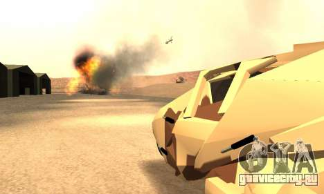 Army Tumbler Rocket Launcher from TDKR для GTA San Andreas вид сверху