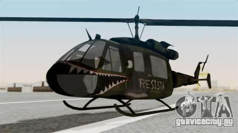 Castro V Attack Copter from Mercenaries 2 для GTA San Andreas вид справа