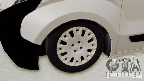 Fiat Fiorino 2014 для GTA San Andreas вид сзади