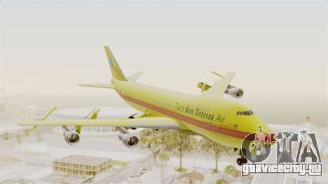 Boeing 747-200 Trans San Andreas Air для GTA San Andreas вид сзади слева
