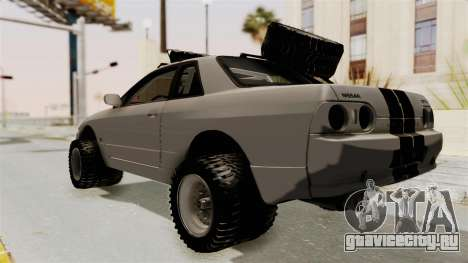 Nissan Skyline R32 Rusty Rebel для GTA San Andreas вид сзади слева