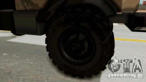 Mercedes-Benz Vojno Vozilo для GTA San Andreas вид сзади