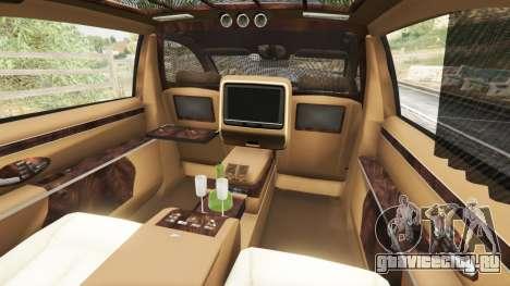 Maybach 62 S для GTA 5 руль и приборная панель