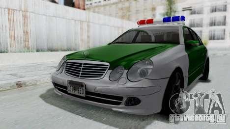 Mercedes-Benz E500 Police для GTA San Andreas вид справа