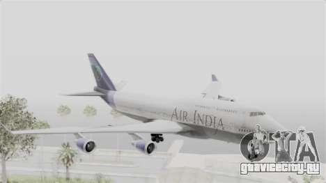 Boeing 747-400 Air India для GTA San Andreas вид сзади слева