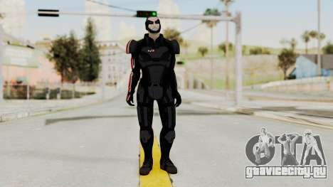 ME2 Shepard Default N7 Armor Delumcore Overlay для GTA San Andreas второй скриншот