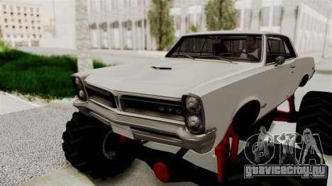 Pontiac GTO Tempest Lemans 1965 Monster Truck для GTA San Andreas вид сзади