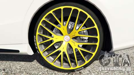 Mercedes-Benz CLA 45 AMG [HSR Wheels] для GTA 5 вид спереди справа
