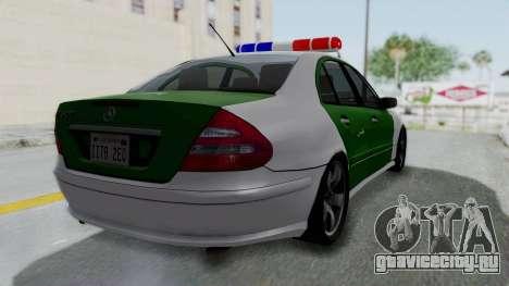Mercedes-Benz E500 Police для GTA San Andreas вид слева