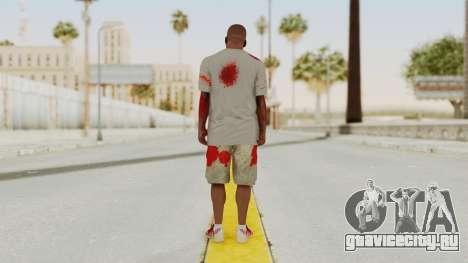 GTA 5 Franklin Zombie Skin для GTA San Andreas третий скриншот