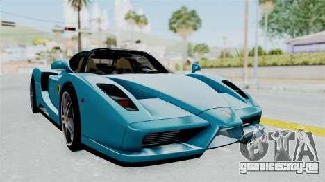 Ferrari Enzo для GTA San Andreas вид сзади слева