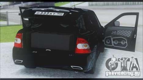 Lada Priora Sedan для GTA San Andreas вид изнутри