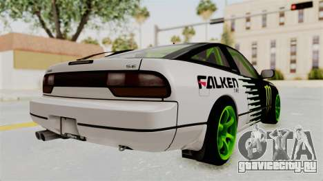 Nissan 240SX Drift Monster Energy Falken для GTA San Andreas вид справа