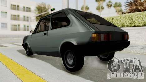 Fiat 147 Vivace для GTA San Andreas вид сзади слева
