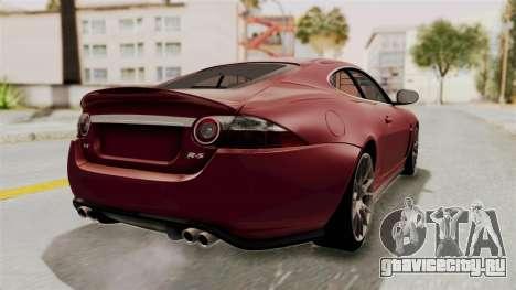 Jaguar XKR-S для GTA San Andreas вид слева