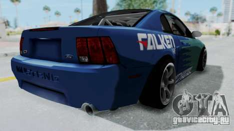 Ford Mustang 1999 Drift Falken для GTA San Andreas вид сзади слева
