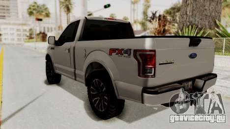 Ford Lobo XLT 2015 Single Cab для GTA San Andreas вид слева