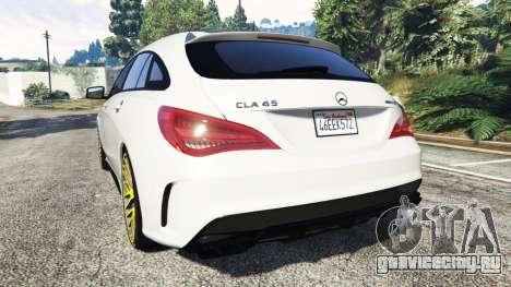 Mercedes-Benz CLA 45 AMG [HSR Wheels] для GTA 5 вид сзади слева