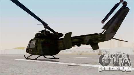 Castro V Attack Copter from Mercenaries 2 для GTA San Andreas вид сзади слева