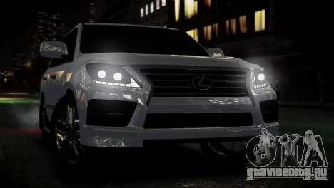 Lexus Lx 570 2014 sport для GTA 4 вид справа
