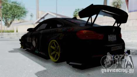 BMW M4 Kurumi Itasha для GTA San Andreas вид слева