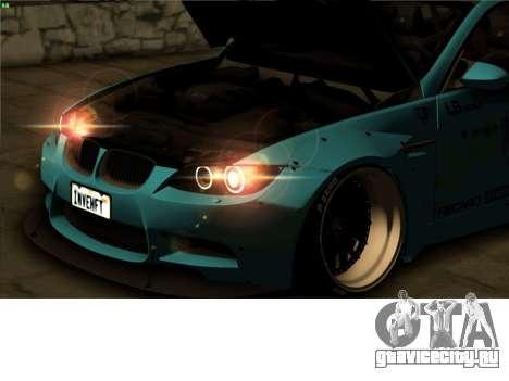 БМВ м3 Е92 свободы ходить производительности фун для GTA San Andreas вид изнутри