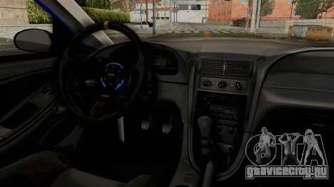 Ford Mustang 1999 Drag для GTA San Andreas вид сзади