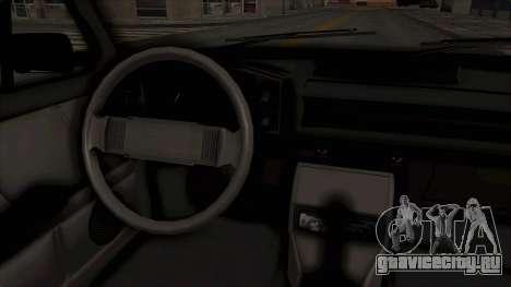 Zastava 128 для GTA San Andreas вид изнутри