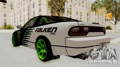 Nissan 240SX Drift Monster Energy Falken для GTA San Andreas вид слева