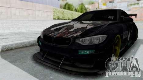 BMW M4 Kurumi Itasha для GTA San Andreas вид сзади слева