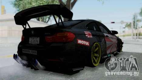 BMW M4 Kurumi Itasha для GTA San Andreas вид справа