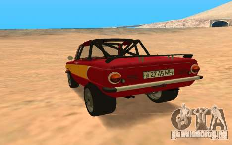ЗАЗ-968 Offroad Style для GTA San Andreas вид сзади слева