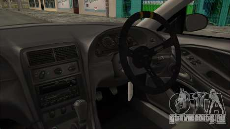 Ford Mustang 1999 Drift для GTA San Andreas вид изнутри