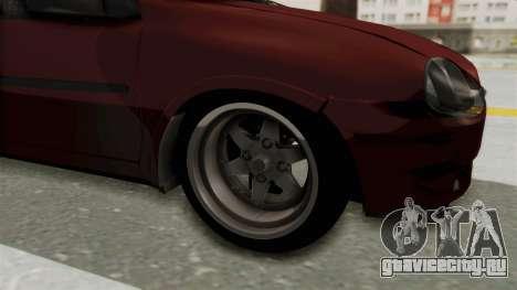 Chevrolet Corsa Hatchback Tuning v1 для GTA San Andreas вид сзади