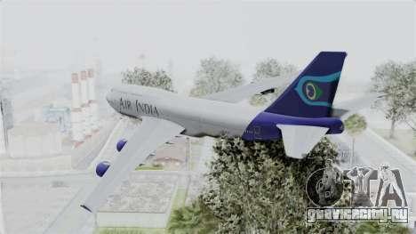 Boeing 747-400 Air India для GTA San Andreas вид слева