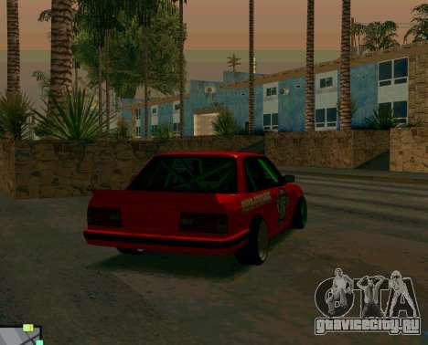 BMW E30 Drift для GTA San Andreas вид сзади слева