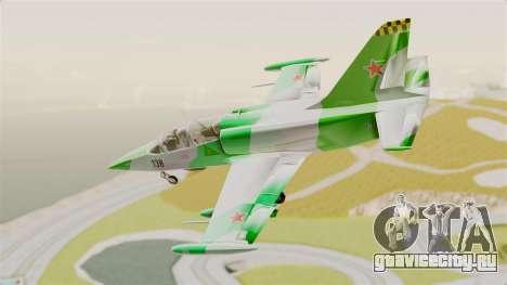 LCA L-39 Albatros для GTA San Andreas вид сзади слева