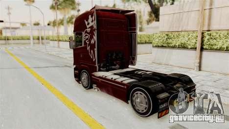 Scania R730 для GTA San Andreas вид сзади слева