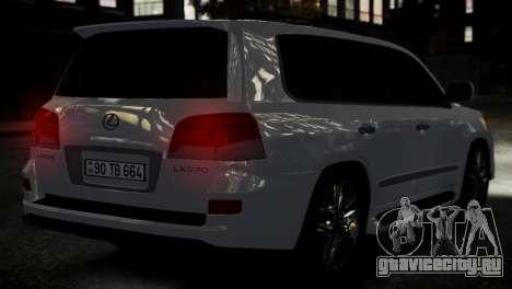 Lexus Lx 570 2014 sport для GTA 4 вид сзади слева