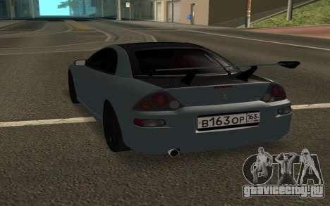 Mitsubishi Eclipse GTS для GTA San Andreas вид сзади слева