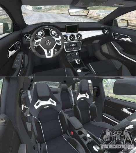 Mercedes-Benz CLA 45 AMG [HSR Wheels] для GTA 5 вид сзади справа