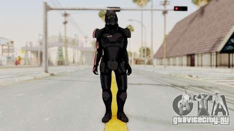 Mass Effect 2 Shepard Default N7 Armor Helmet для GTA San Andreas второй скриншот