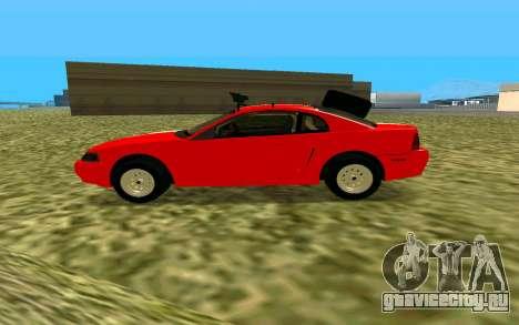 Ford Mustang 1999 для GTA San Andreas вид сзади слева
