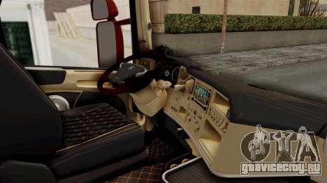 Scania R730 для GTA San Andreas вид изнутри