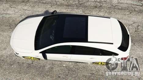 Mercedes-Benz CLA 45 AMG [HSR Wheels] для GTA 5 вид сзади