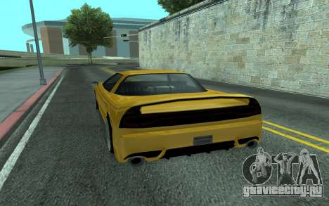 BlueRay's V9 Infernus для GTA San Andreas вид сзади слева