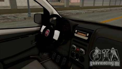 Fiat Fiorino 2014 для GTA San Andreas вид изнутри