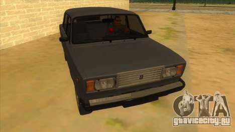 ВАЗ 2107 РОССИЯ для GTA San Andreas вид сзади